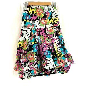Torrid Dress Strapless Floral Colorful Bubble Hem
